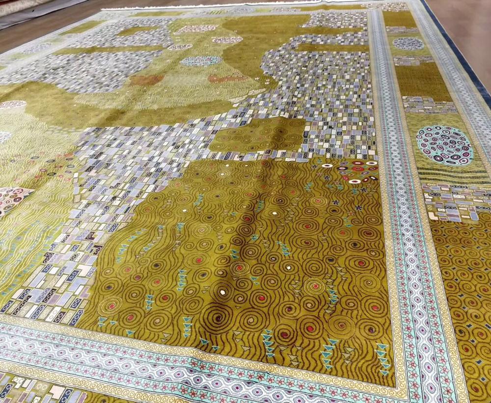 身價上百萬元的18x24ft亞美手工真絲地毯 1