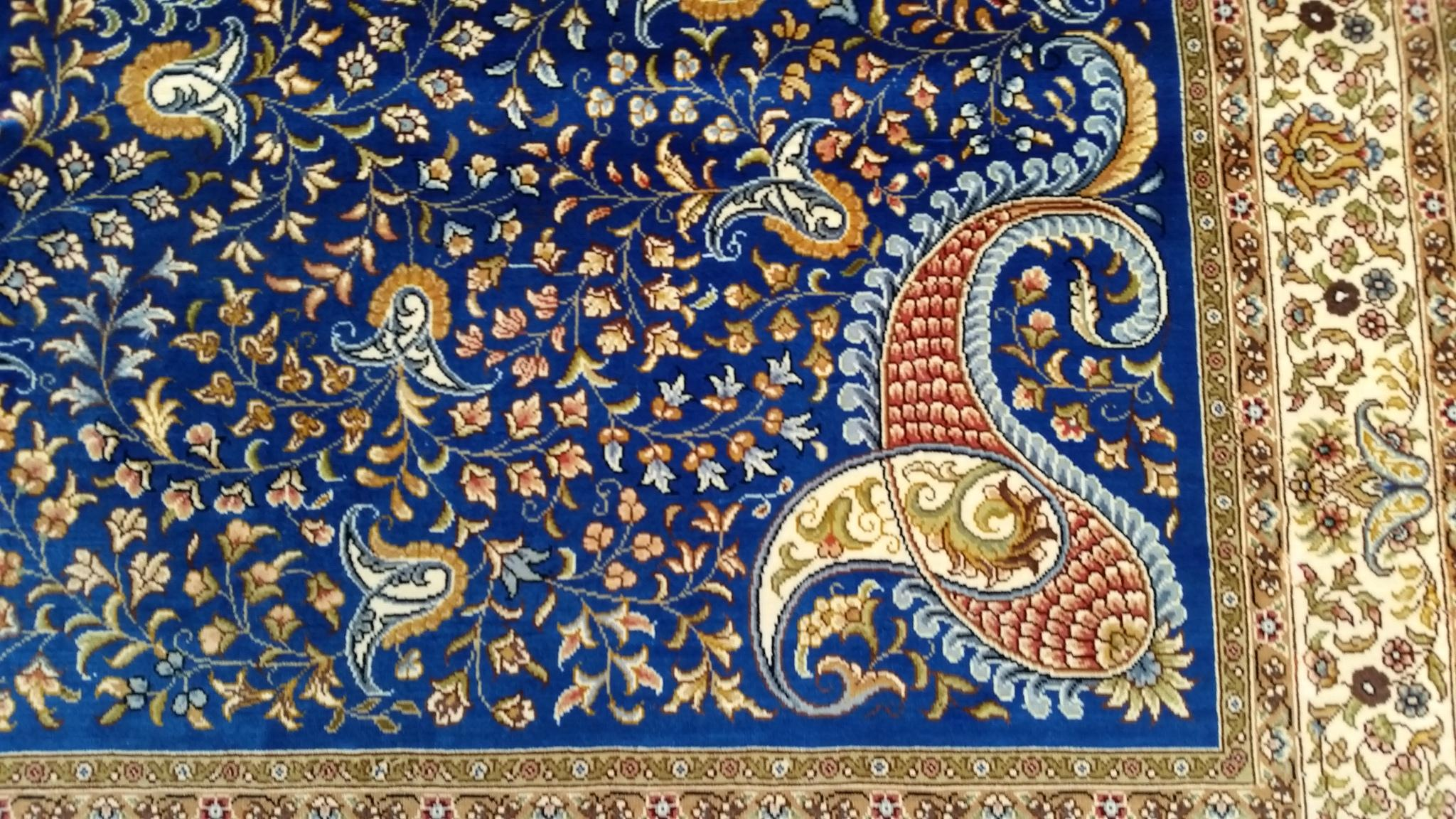 中国广州批发供应客厅波斯地毯,丝绸服装地毯 3