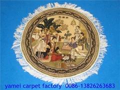Elegant dress silk tapestry, full figure, 900l charming carpet 2x2ft