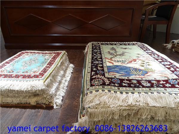 风姿绰约的真丝挂毯,900L迷人地毯2x2ft 3