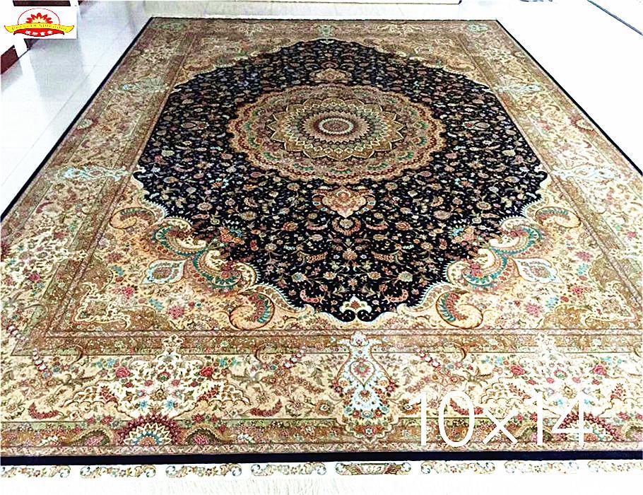 高密度600L 6'x9'红色 伊斯法罕  设计红色仿古的手工丝绸地毯 5