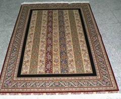 昨天我买的亚美手工地毯,8x10ft 600道,太好了,波斯图案