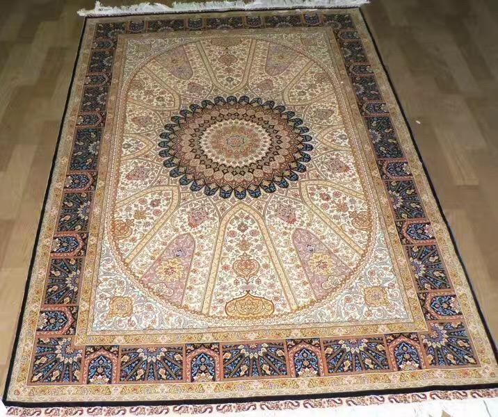 手工真丝艺术地毯 波斯地毯 8X10 ft 1