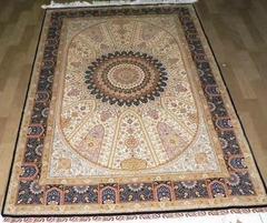 手工真丝艺术地毯 波斯地毯 8X10 ft