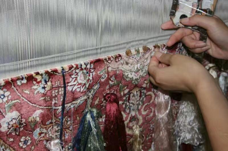 手工真丝艺术地毯 波斯地毯 8X10 ft 4