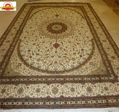 亚美手工生产优质丝毯13826288657