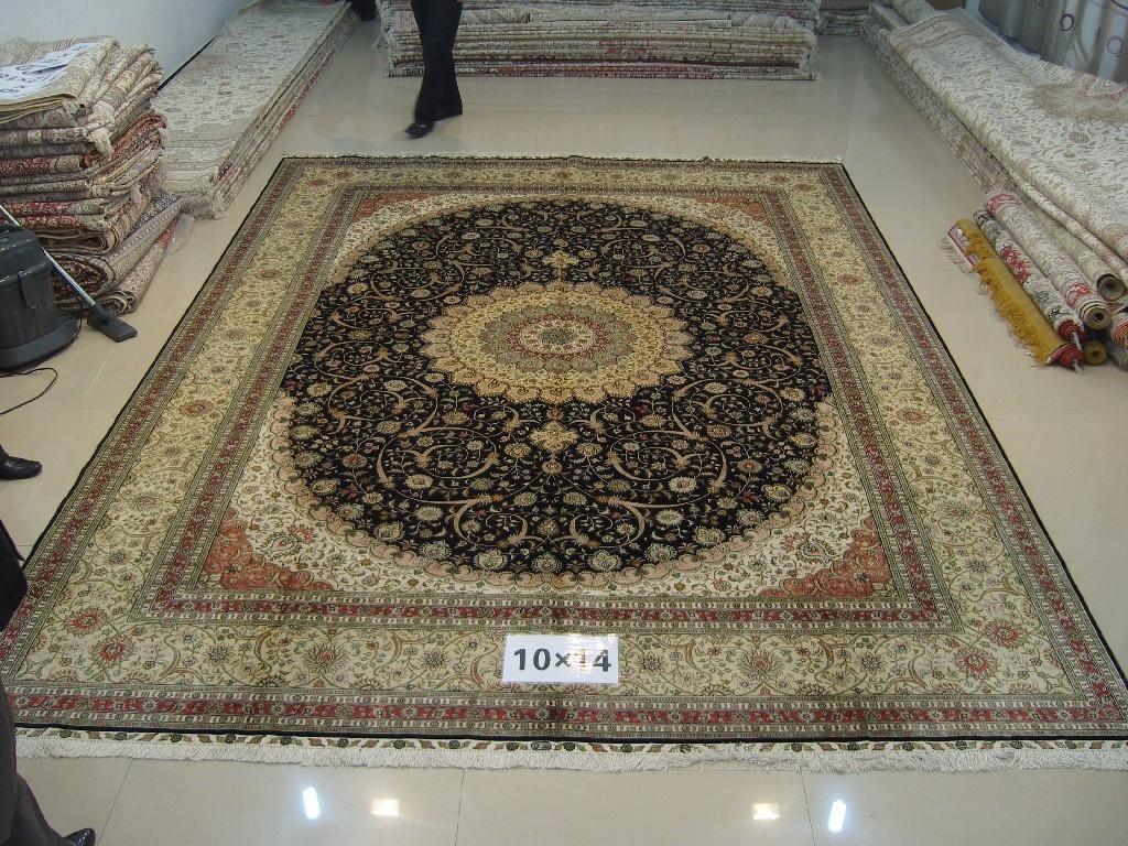 亚美天然蚕丝,热销出口,手工波斯地毯 2