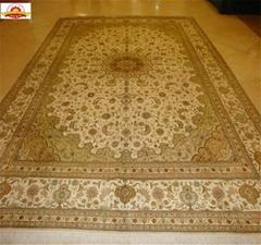 波斯富贵优惠德国真丝地毯 手工波斯地毯/挂毯305x246cm