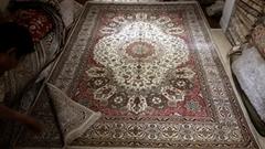 批发艺术壁毯,士耳奇手工波斯挂毯 真丝地毯