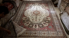 Wholesale Price 5x8ft Turkish Hand Knotted handmade Silk Carpet /persian carpet