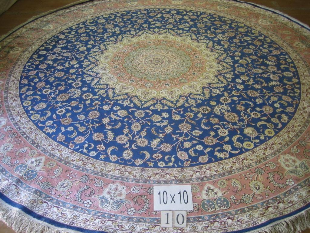 supply round handmade silk carpet 12x12 ft American carpet 2