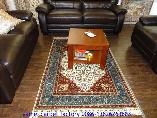 中国广州批发供应客厅波斯地毯,丝绸服装地毯 4