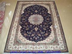 广州广园西路88号亚美销售中心批发手工真丝波斯地毯