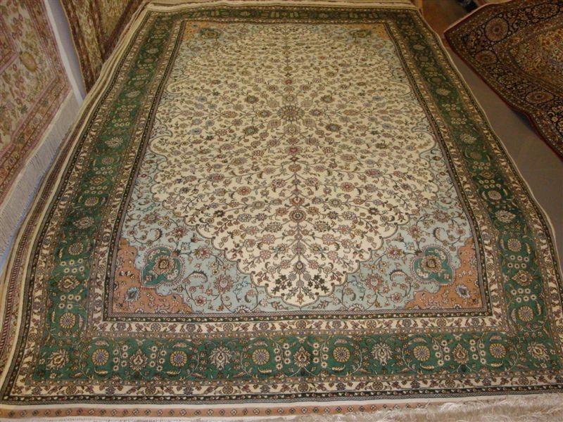 广州批发600L高级真丝地毯 手工编织波斯图案  1