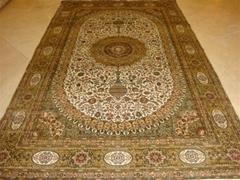 广州广园西路88号亚美批发手工真丝波斯地毯