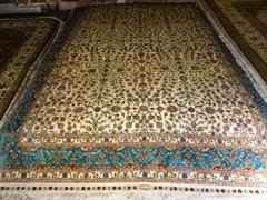 供应   艺术挂毯 手工真丝波斯地毯8X10 ft德国图案