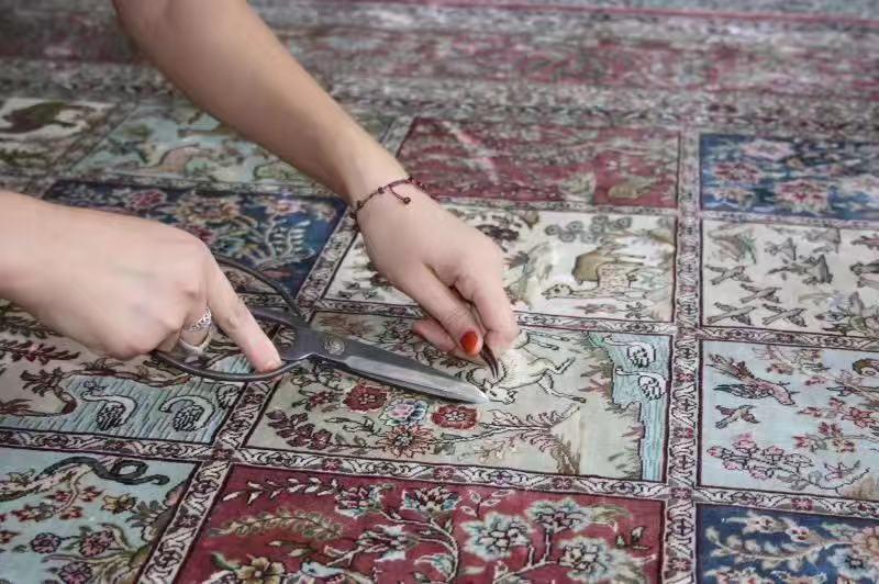 专业生产亚美手工波斯地毯-美国高级客厅  5