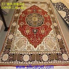 送手工真丝地毯一张,向国家勋章和国家荣誉获得者学习