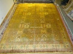 同奔馳一樣品質的手工真絲古代地毯 6x9 ft 蠶絲古老波斯地毯 (熱門產品 - 1*)