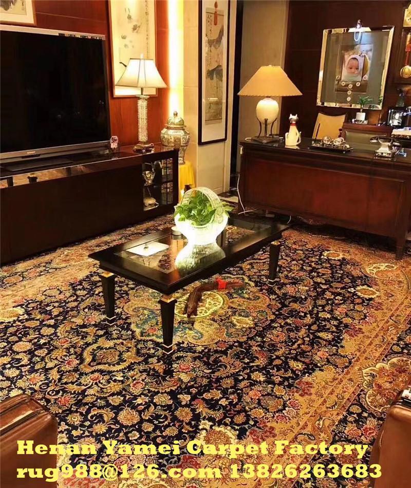 同奔驰一样品质的手工真丝古代地毯 6x9 ft 蚕丝古老波斯地毯 3