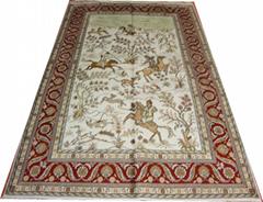 广州广园西路88号亚美批发手工艺术挂毯 5x8ft