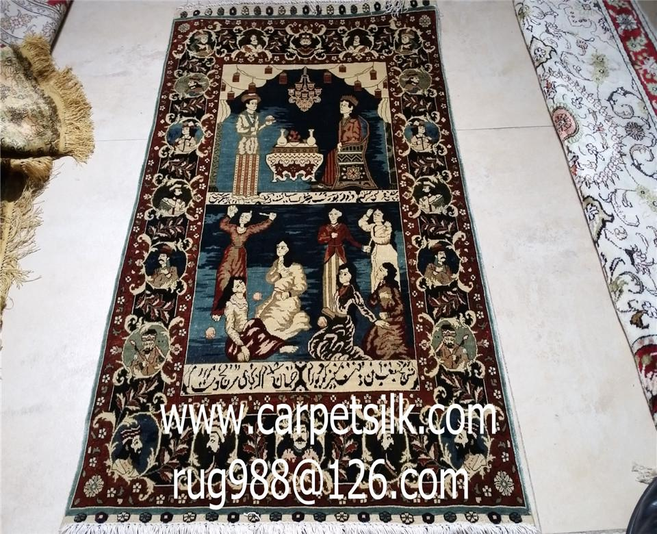 art tapestry silk tapestry 2x3ft/ precious silk carpet 1