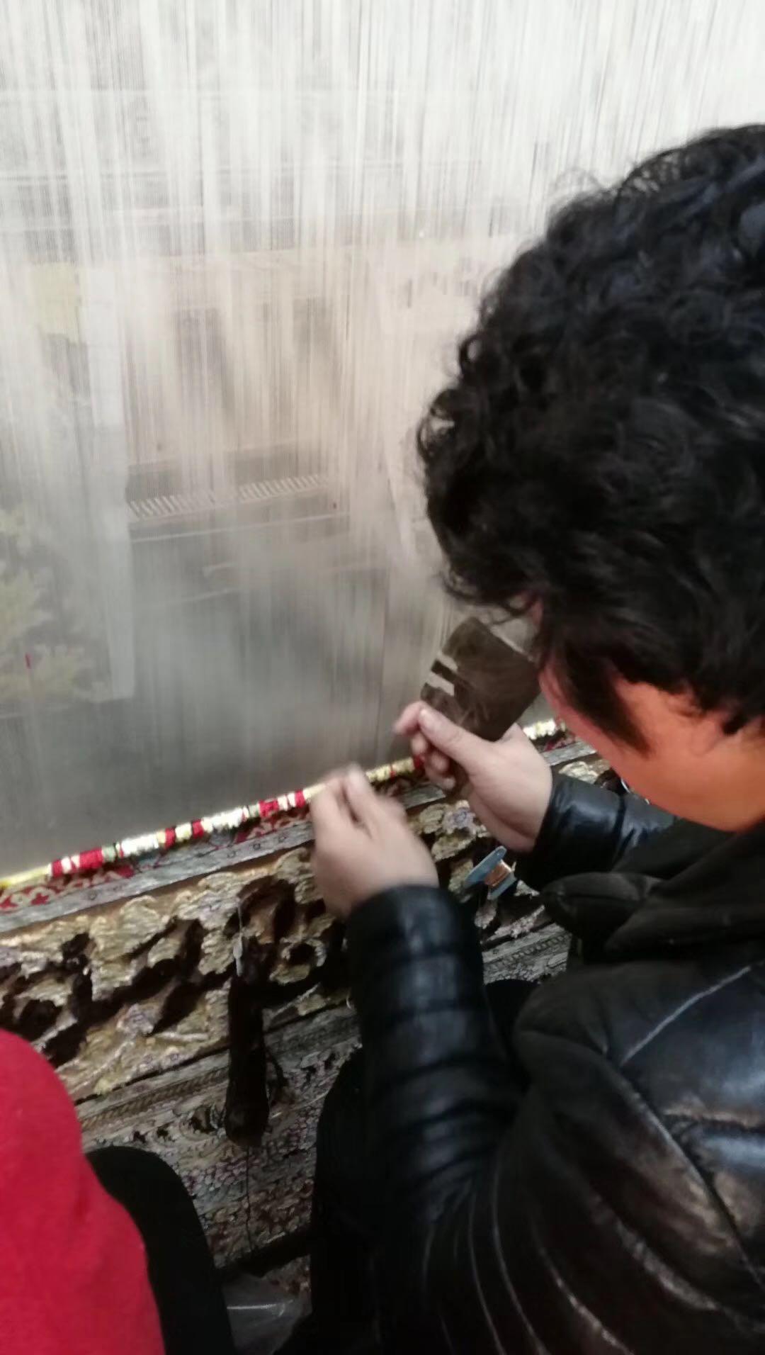 亚美地毯厂一支花-手工波斯真丝艺术挂毯 3