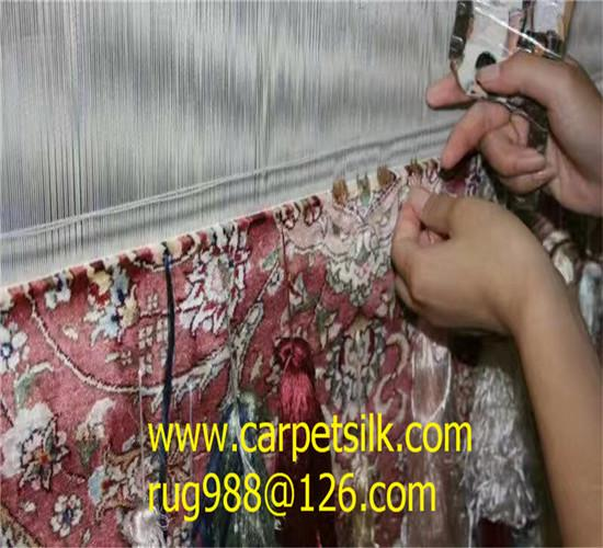 风姿绰约的真丝挂毯,900L迷人地毯2x2ft 2