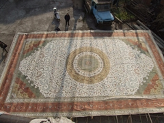 """""""世界名毯""""富波富貴地毯- 30x50ft 炫富波斯真絲地毯"""