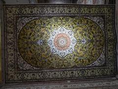 世界名毯-亚美 6x9ft 天然植物染色桑蚕丝金丝挂毯