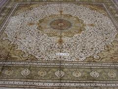 """亚美""""世界名毯""""- 炫富手工波斯真丝地毯 18x18 ft (热门产品 - 1*)"""