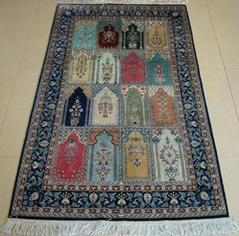 1月23曰是中国的吉祥,亚美地毯全天免费增送真丝地毯