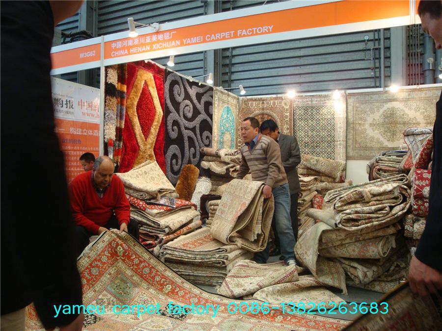 中美合做,友好大厅 12x18ft手工真丝地毯 5