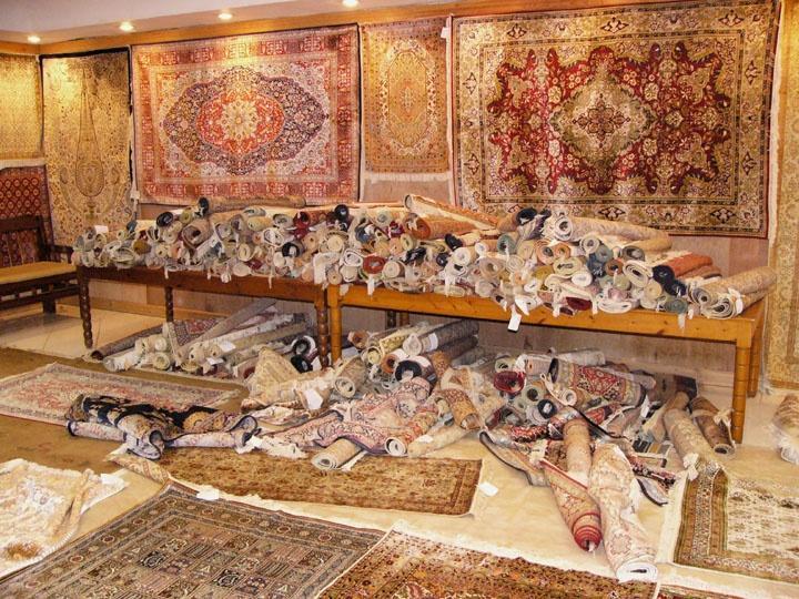 亚美批发圆形真丝地毯 圆形波斯地毯 世界名毯 2