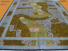 供应大型波斯手工蚕丝地毯
