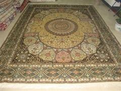 供应8X10 ft 手工天然蚕丝地毯 祈祷挂毯