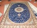 波斯富貴天然蠶絲波斯地毯5x8