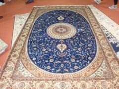 波斯富贵天然蚕丝波斯地毯5x8