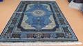 經典波斯設計工廠批發手工絲綢5x8 ft 挂毯 1