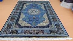 Classic tapestry Persian design factory wholesale handmade silk 5x8 ft