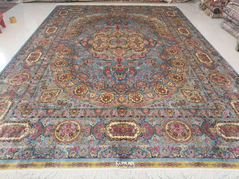 淅川县亚美地毯厂是中国好的手工真丝地毯生产厂家 1