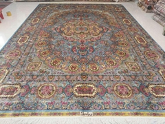 A good manufacturer of handmade silk carpet in China Xichuan Yamei carpet Factor