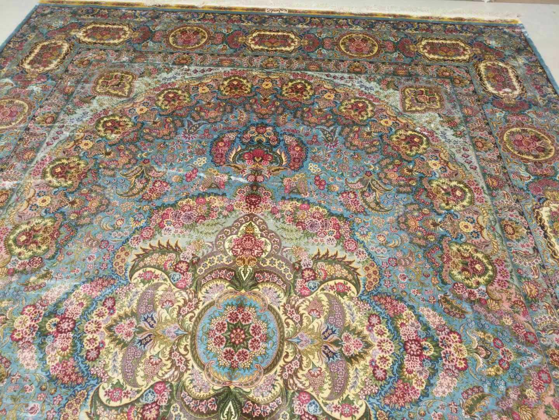 淅川县亚美地毯厂是中国好的手工真丝地毯生产厂家 3