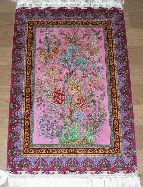 优惠古典艺术画卷的真丝挂毯 1