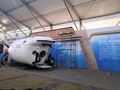 专业生产移动式航空铝金大型空军蓬房40x90m 3