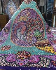 波斯富贵生产大型手工壁毯及挂毯,桑蚕丝材料