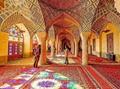 波斯富貴生產大型手工壁毯及挂毯,桑蠶絲材料,東方圖案 3