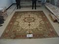 世界名毯-波斯富貴手工真絲地毯