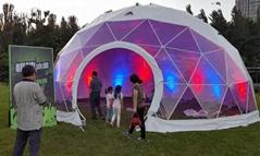 專業製造藝朮帳篷,球形陽光篷房