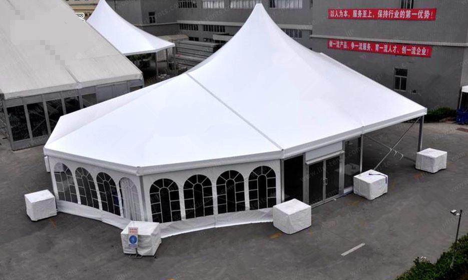 批发移动新派对帐篷 多拱形篷房 多边形篷房 带格力中央空调 2